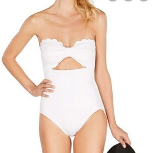 NEW Kate Spade Scallop Bandeau One Piece Swimsuit